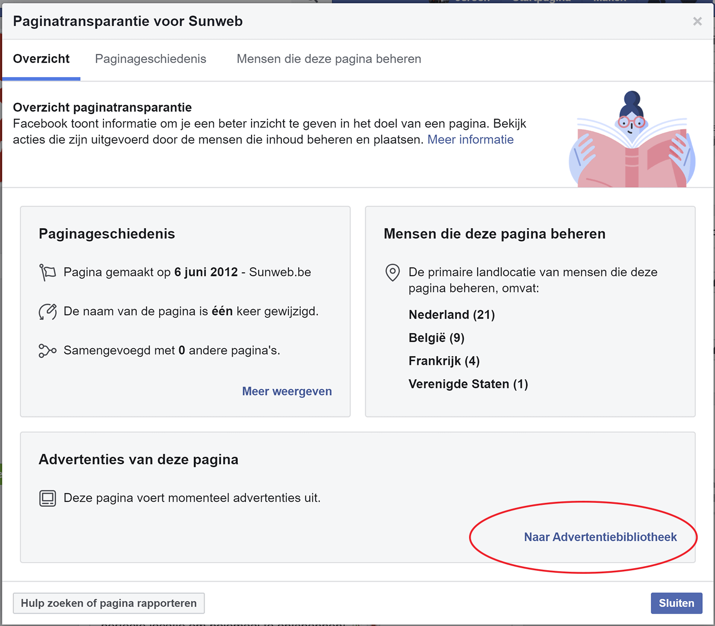 Advertentiebibliotheek Facebook